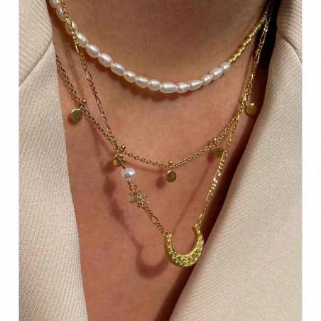 Hultquist Halskæde, Ella Plain, Guld, ferskvandsperler, guldbelagt, sterlingsølv, model