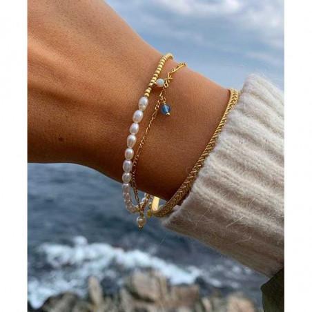 Hultquist Armbånd, Ella Plain, Guld, ferskvandsperler, guldbelagt, sterlingsølv, smykker