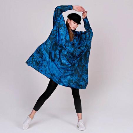 Rainkiss Regnjakke, Blue Bubbles Rain Poncho regntæt poncho - regnponcho regntøj blue bubbles