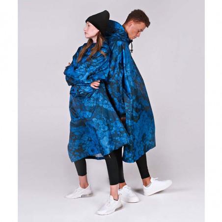 Rainkiss Regnjakke, Blue Bubbles Rain Poncho regntæt poncho - regnponcho regntøj