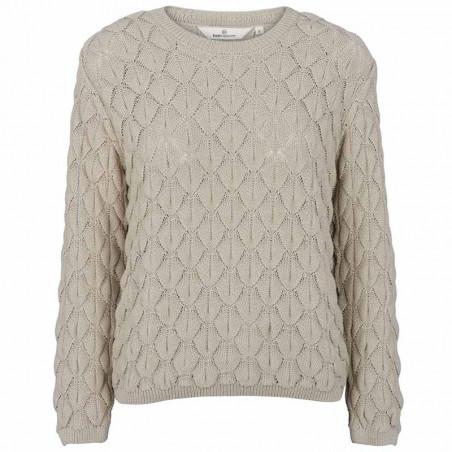 Basic Apparel Strik, Milla Sweater, Moss Gray, grøn trøje, striktrøje, hulstrik