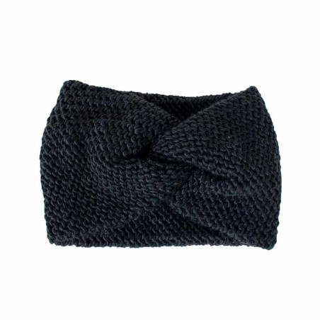 ReDesigned Pandebånd, Hosana Headband, Black, Hue, Strikket, Vinteraccessories