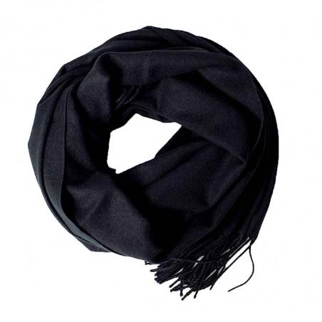 ReDesigned Tørklæde, Lois Scarf, Black, Halstørklæde, Frynser, Viskose