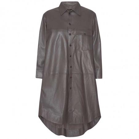 MDK Kjole i lamme skind, Chili Thin Leather Dress, Bungee Cord. Munderingskompagniet skindkjole