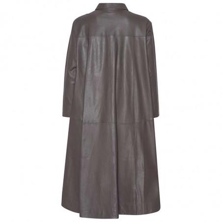 MDK Kjole i lamme skind, Chili Thin Leather Dress, Bungee Cord. Munderingskompagniet skindkjole ryg