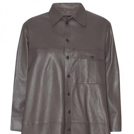 MDK Kjole i lamme skind, Chili Thin Leather Dress, Bungee Cord. Munderingskompagniet skindkjole detalje