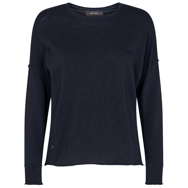 Mos Mosh T-shirt, Glory O-LS, Salute Navy, Langærmet T-shirt, Bluse, Sweatshirt, Dropped Shoulders