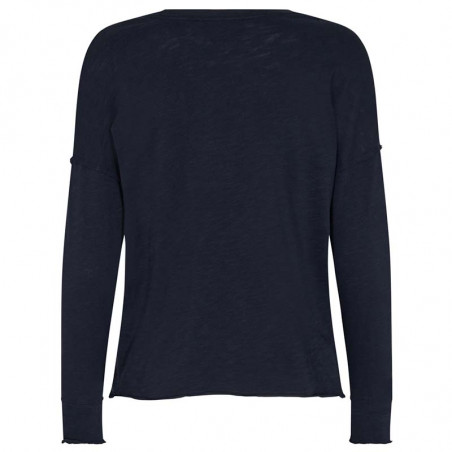 Mos Mosh T-shirt, Glory O-LS, Salute Navy, Langærmet T-shirt, Bluse, Sweatshirt, Dropped Shoulders, Bagside