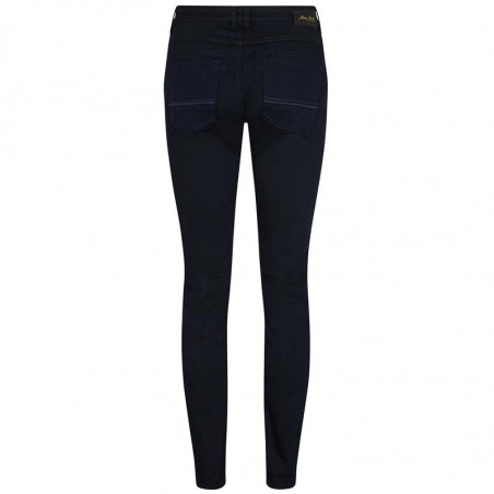 Mos Mosh Jeans, Naomi Deep Blue Regular, Dark Blue ryg