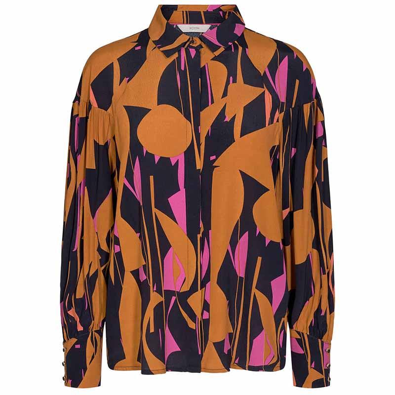 Nümph Skjorte, Nucynara Shirt, Dark Sapphire, print