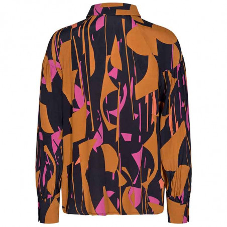 Nümph Skjorte, Nucynara Shirt, Dark Sapphire, Bagside