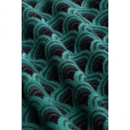 King Louie Cardigan, Cardi Roundneck Pastery Knit, Black, Trøje, Økologisk Bomuld, Knapper, Detalje
