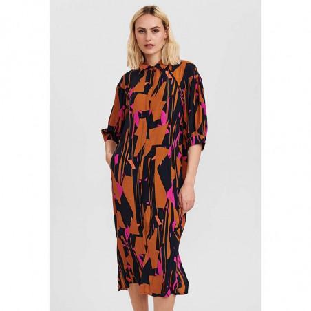 Nümph Kjole, Nucynara dress, Dark Sapphire, På model