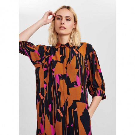 Nümph Kjole, Nucynara dress, Dark Sapphire, Model