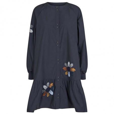 Nümph Kjole, Nubelinde dress, Dark Sapphire, Front