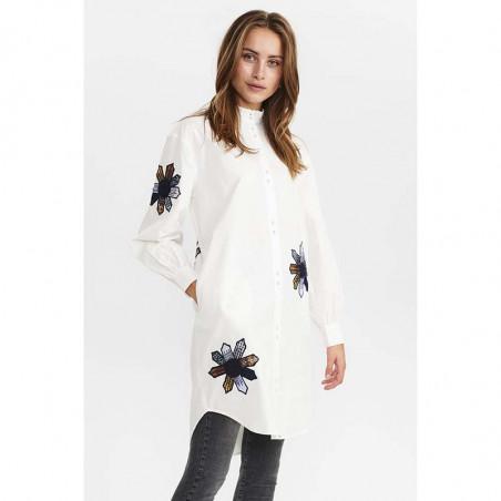 Nümph Skjorte, Nubelinde Shirt, Cloud Dancer, Front model