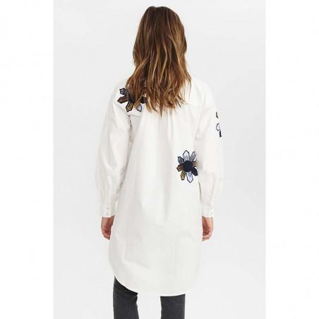 Nümph Skjorte, Nubelinde Shirt, Cloud Dancer, Bagside model