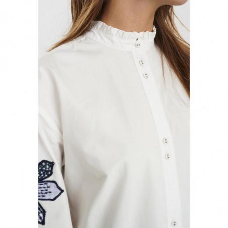 Nümph Skjorte, Nubelinde Shirt, Cloud Dancer, Krave detaljer