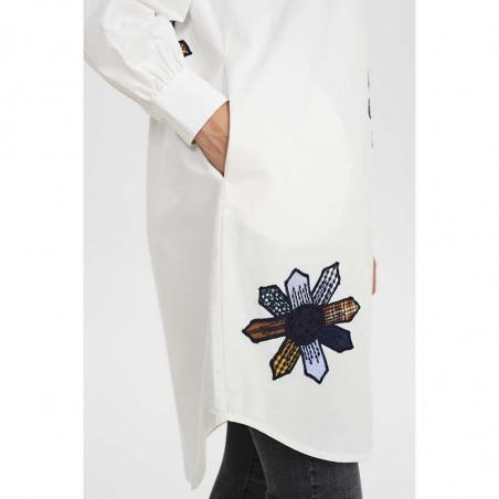 Nümph Skjorte, Nubelinde Shirt, Cloud Dancer, lommer