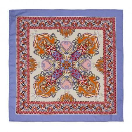 Lollys Laundry Tørklæde, Cora, Light Blue, Hår, Accessories, Lavendel, Lyseblå, Violet, Mønstret