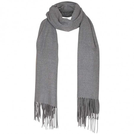 Nümph Tørklæde, Numarian Brylee, Medium Grey Melange, Halstørklæde, Accessories, Frynser, Vinter