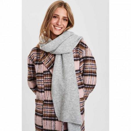 Nümph Tørklæde, Nuallen, Light Grey Mel, Model