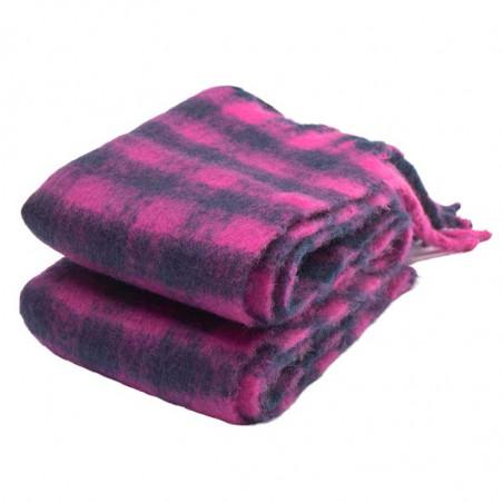 Nümph Tørklæde, Nukitten Check, Dark Sapphire foldet halstørklæde