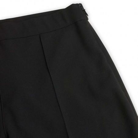 Mads Nørgaard Bukser, Perolla Recycled Sportina, Black, Pants, Trousers, Sort, Lynlås, Detalje