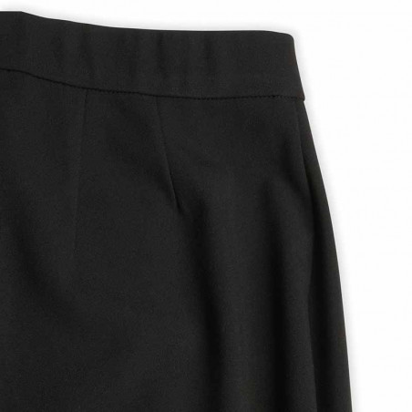Mads Nørgaard Bukser, Perolla Recycled Sportina, Black, Pants, Trousers, Sort, Lynlås, Læg