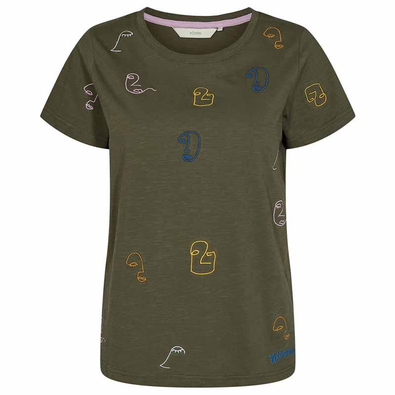 Nümph T-shirt, Nuberta, Grape Leaf