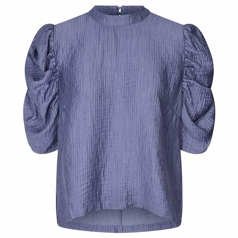 Lollys Laundry Bluse, Lou, Dusty Blue