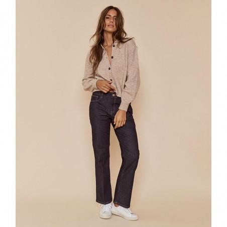 Mos Mosh Jeans, Cecilia Cover Ankle, Dark Blue Denim på model